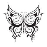 Gesierde abstracte silhouetvlinder Royalty-vrije Stock Foto
