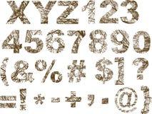 Gesierde brieven Royalty-vrije Stock Afbeelding