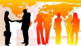 Gesilhouetteerd van Bedrijfsmensen 5 vector illustratie