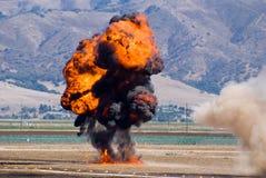 Gesimuleerde Explosie in Airshow stock afbeeldingen