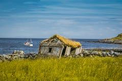 Gesloopt huis in Vaeroy stock fotografie