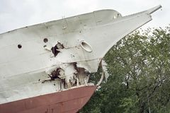 Gesloopt schipfragment royalty-vrije stock fotografie