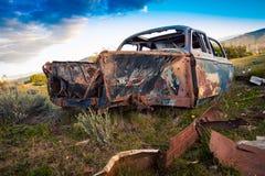 Gesloopt verlaat auto Argentinië royalty-vrije stock afbeeldingen