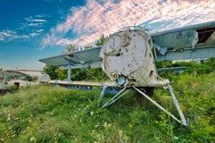 Gesloopt Vliegtuig Begraafplaats van vliegtuigen royalty-vrije stock afbeelding