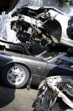 Gesloopte auto's Royalty-vrije Stock Afbeeldingen