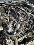Gesloopte motor van een auto Stock Afbeeldingen
