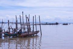 Gesloopte vissersboot Stock Afbeeldingen