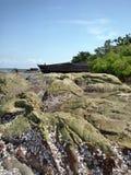 Gesloopte vissersboot Royalty-vrije Stock Afbeeldingen