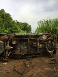 Gesloopte vrachtwagen Royalty-vrije Stock Foto's