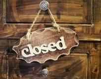 gesloten Stock Foto