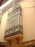 Gesloten balkon Art Nouveau Royalty-vrije Stock Afbeeldingen
