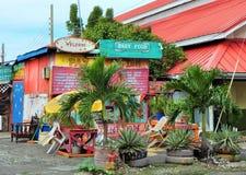 Gesloten bar en restaurant in de Caraïben Royalty-vrije Stock Foto