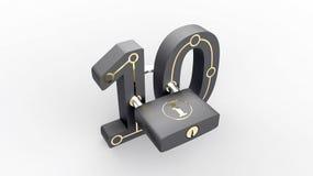 Gesloten Binair getal Stock Afbeelding