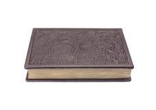 Gesloten boek op witte achtergrond Royalty-vrije Stock Afbeelding