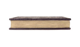 Gesloten boek op witte achtergrond Stock Foto's
