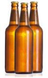 Gesloten fles bier Stock Foto