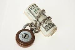Gesloten geld Royalty-vrije Stock Fotografie