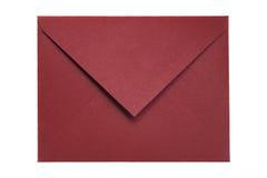 Gesloten geweeste Rode Envelop Royalty-vrije Stock Foto