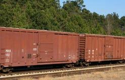 Gesloten goederenwagens Royalty-vrije Stock Afbeelding