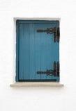 Gesloten houten blind royalty-vrije stock afbeelding