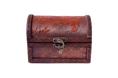 Gesloten houten borst Royalty-vrije Stock Foto