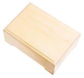 Gesloten houten doos die op wit wordt geïsoleerd¯. Royalty-vrije Stock Fotografie