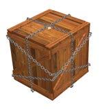 Gesloten houten krat royalty-vrije illustratie
