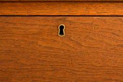 Gesloten houten lade Royalty-vrije Stock Afbeeldingen