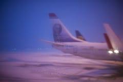 Gesloten luchthaven, geannuleerde vluchten Royalty-vrije Stock Foto