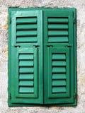 Gesloten mediterraan venster Royalty-vrije Stock Fotografie