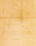 Gesloten naadloos beeld van oud vergeeld blad van document met donkere vlekken en een facsimile van de inschrijving Royalty-vrije Stock Foto's