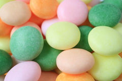 Gesloten omhoog Hoop van Pastelkleur om Suikergoed, voor Achtergrond met Selectieve Nadruk Stock Afbeeldingen