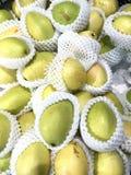 Gesloten omhoog verse peren in de markt Stock Foto