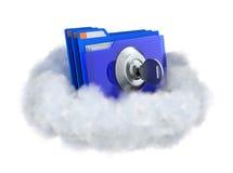 Gesloten omslag in een wolk stock illustratie