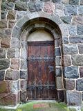 Gesloten oude houten deur Stock Foto's