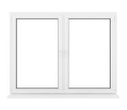 Gesloten plastic venster Royalty-vrije Stock Afbeeldingen