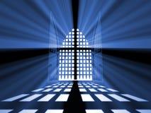 Gesloten poort van paradijs van duisternis. royalty-vrije illustratie