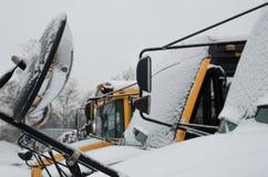 Gesloten school wegens Sneeuw Stock Foto