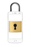 Gesloten smartphoneconcept Royalty-vrije Stock Foto