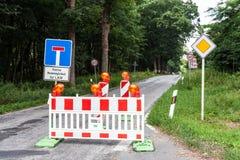 Gesloten straat in Duitsland royalty-vrije stock afbeelding