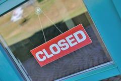 Gesloten teken op venster Royalty-vrije Stock Afbeeldingen