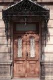 Gesloten uitstekende houten deur royalty-vrije stock foto's