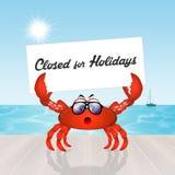 Gesloten voor vakantie vector illustratie