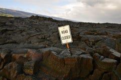 Gesloten weg, Hawaï Royalty-vrije Stock Afbeeldingen