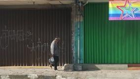 Gesloten winkels tot 09 o' klok am Stock Foto