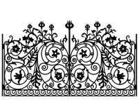 Gesmede ijzerpoort royalty-vrije illustratie