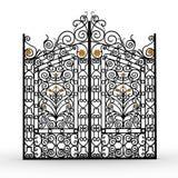 Gesmede poort royalty-vrije illustratie