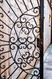 Gesmede poort Stock Foto