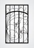 Gesmede poortdeur. Royalty-vrije Stock Afbeeldingen