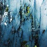 Gesmolten blauw plastiek Stock Foto's